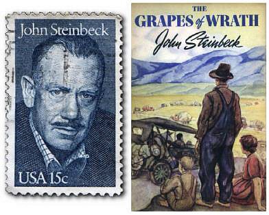 What is the message in John Steinbeck's The Grapes of Wrath?