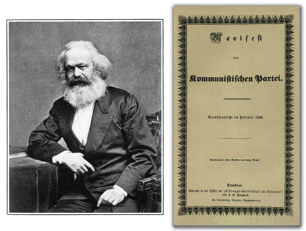 the communist manifesto by karl marx essay In the communist manifesto karl marx explains his historical vision of a revolutionary class struggle between bourgeois and proletarians his views are highlighted from the very beginning the history of all hitherto societies has been the history of class struggles (50.